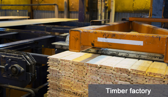 wireless thermometer in timber factory