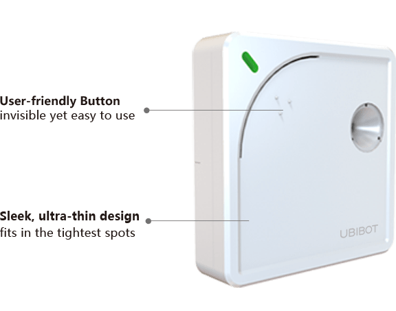 Ubibot User Friendly Device Button